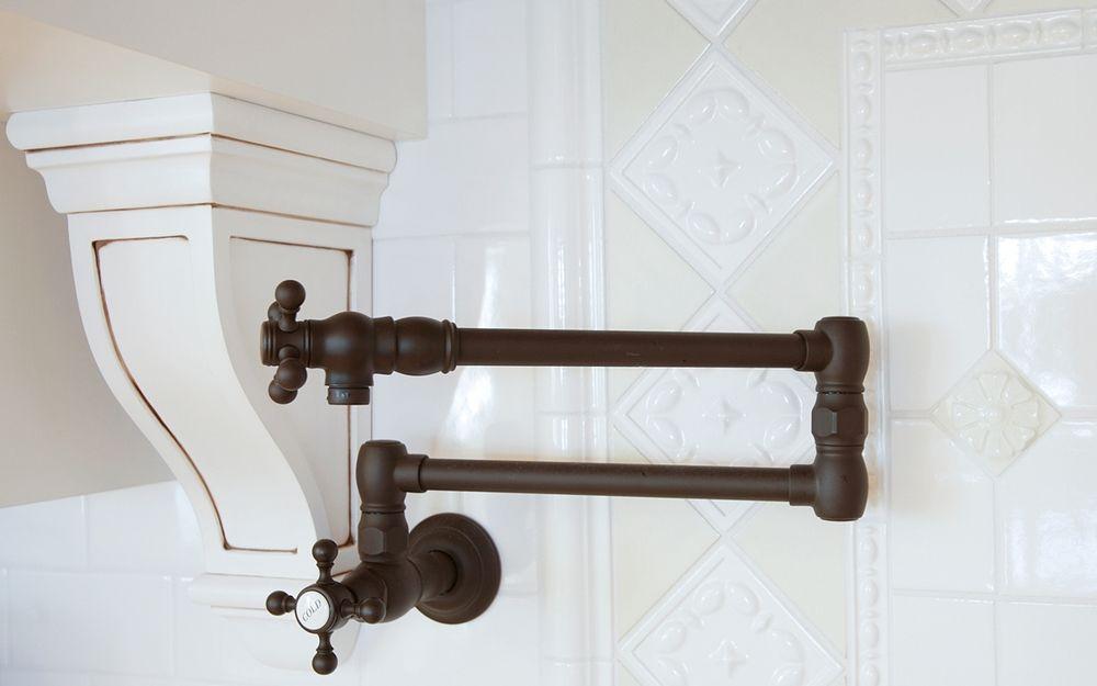 Pot Filler Corbel Oil Rubbed Bronze Faucet White Tile Custom