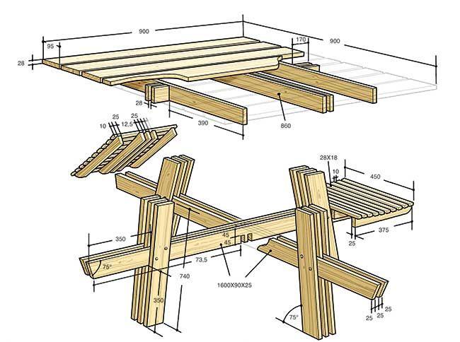 Progetto Tavolo Da Giardino.Progetto Tavolo Da Giardino Brico Nel 2019 Tavolo