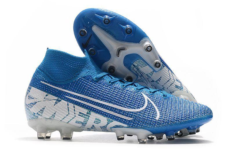 Nike Mercurial Superfly 7 Elite Ag Pro New Lights Blue Hero White In 2020 Soccer Cleats Nike Mercurial Soccer Cleats Nike Soccer Cleats