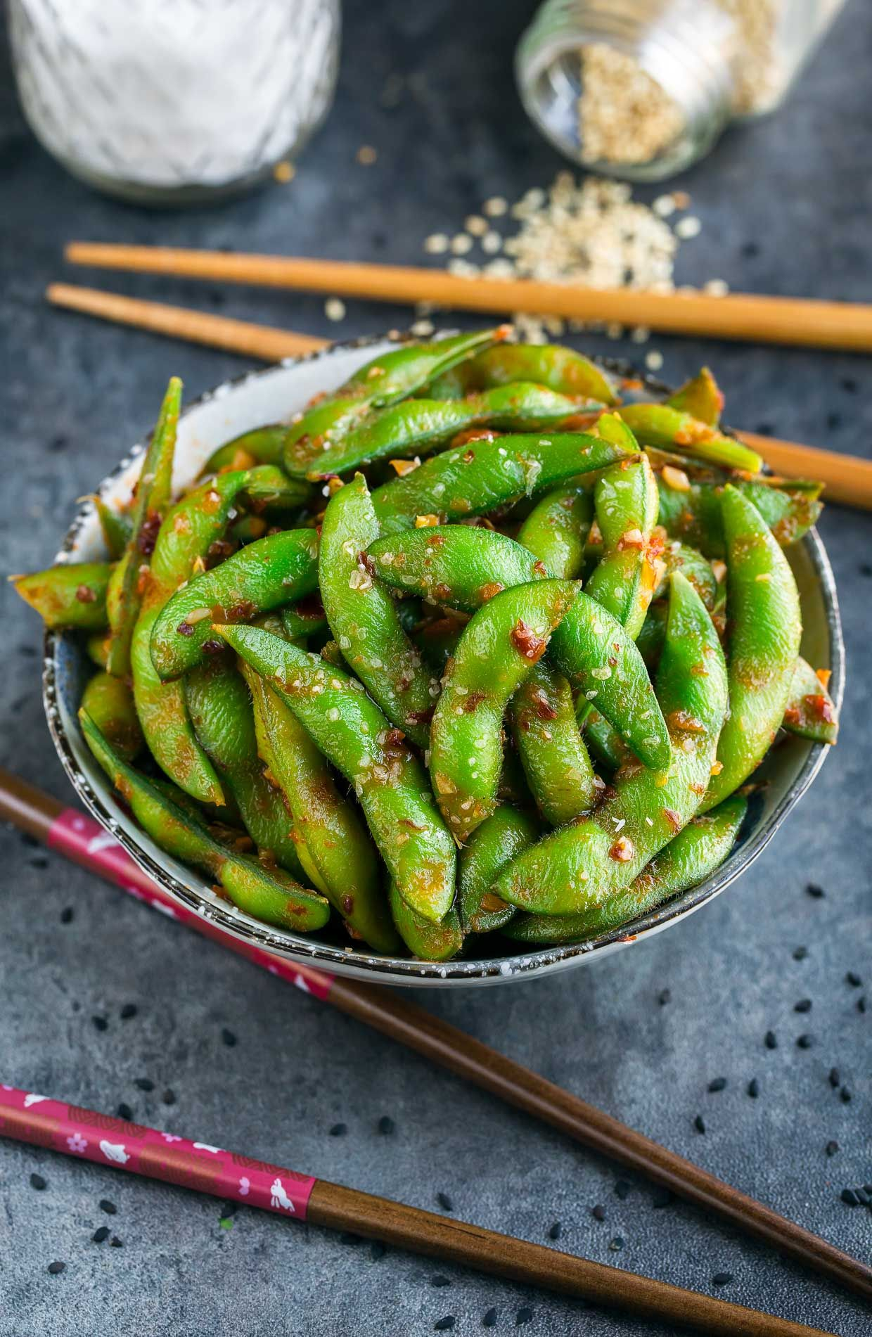 Spicy Edamame Recipe With Images Edamame Recipes Healthy
