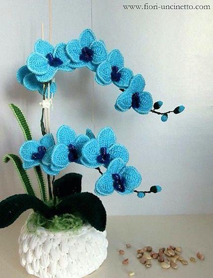 Crochet Orchid Flower Pattern Video Tutorial Easy Instructions – hobi