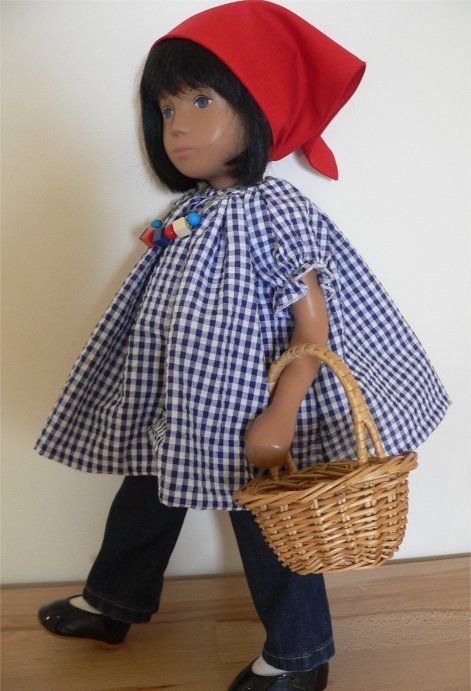 French market style outfit for Sasha doll by chirnside on eBay......posted to USA.