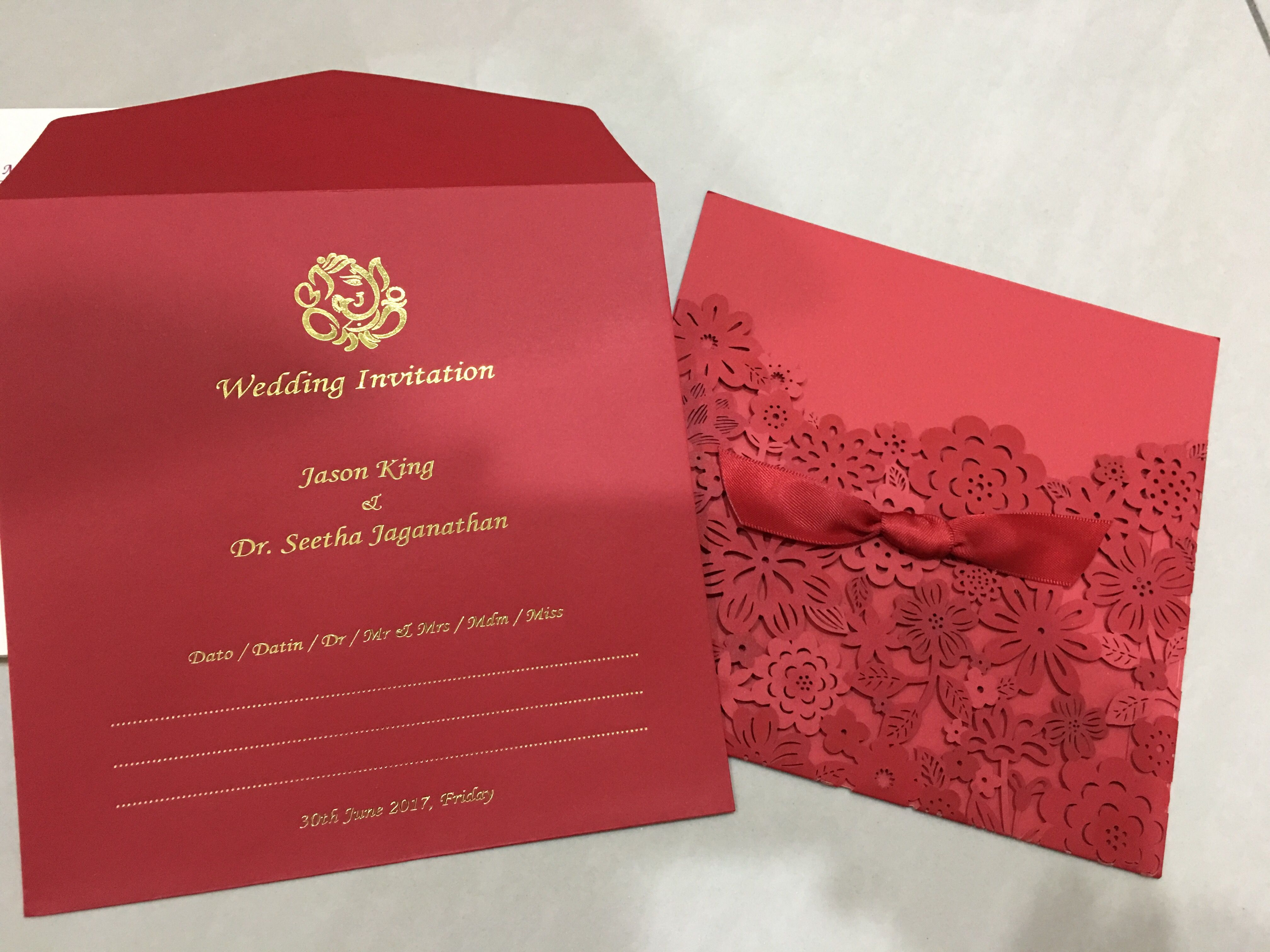 The envelope & pouch for the wedding invite #hinduwedding #red ...
