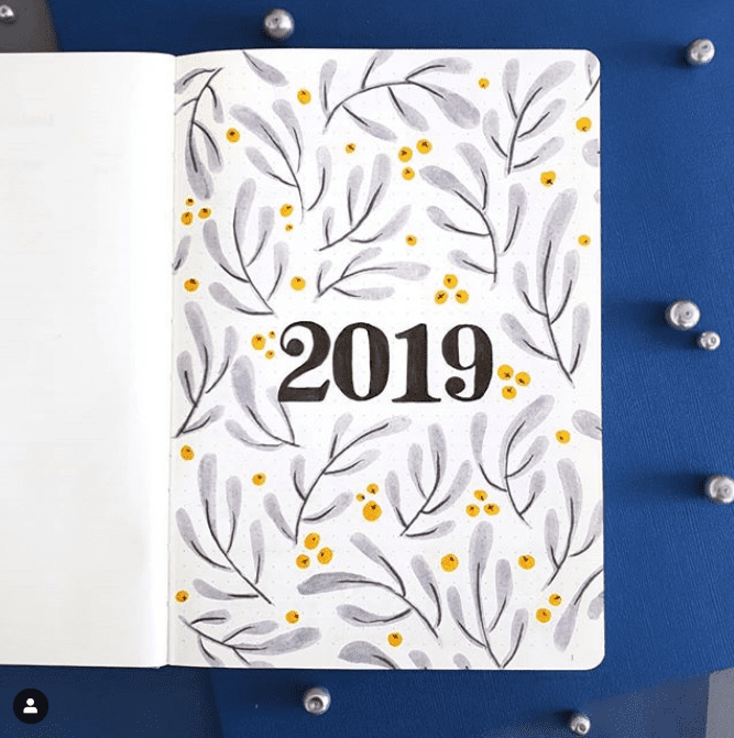 Top 15 Hello 2019 Bullet Journal Cover Pages