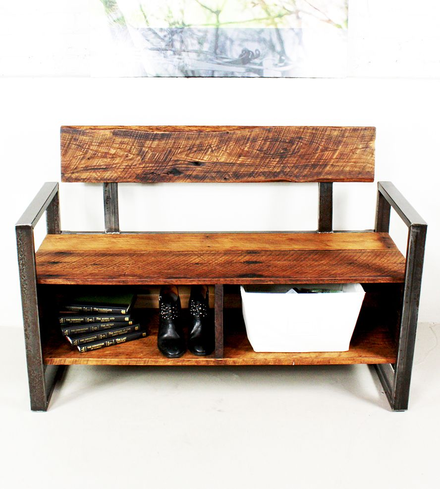 Reclaimed Wood Storage Bench - Reclaimed Wood Storage Bench Wood Storage Bench, Wood Storage