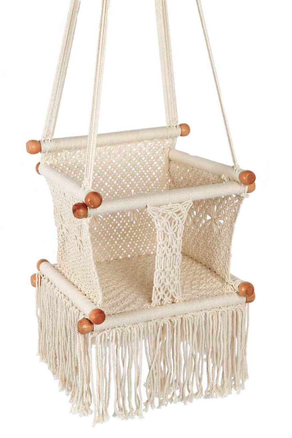 Crochet baby swing swing chairs crochet baby and babies crochet baby trinket swing chair bankloansurffo Image collections