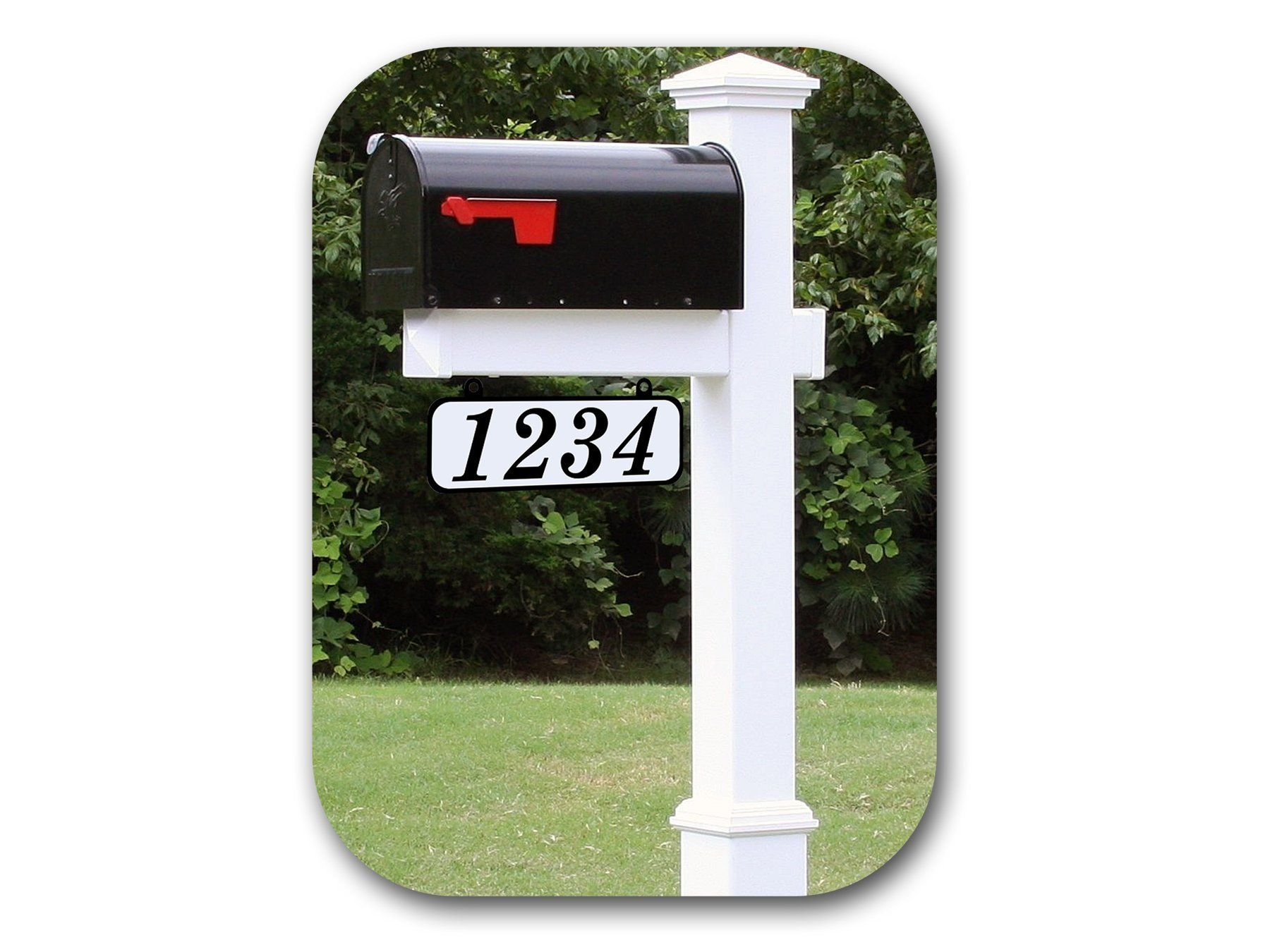 Street Mailbox 2 Sided Home Day Night Post Mount Reflective Address Number Plate