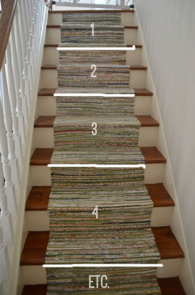 Lighting Basement Washroom Stairs: Staircase Runner For Under $50