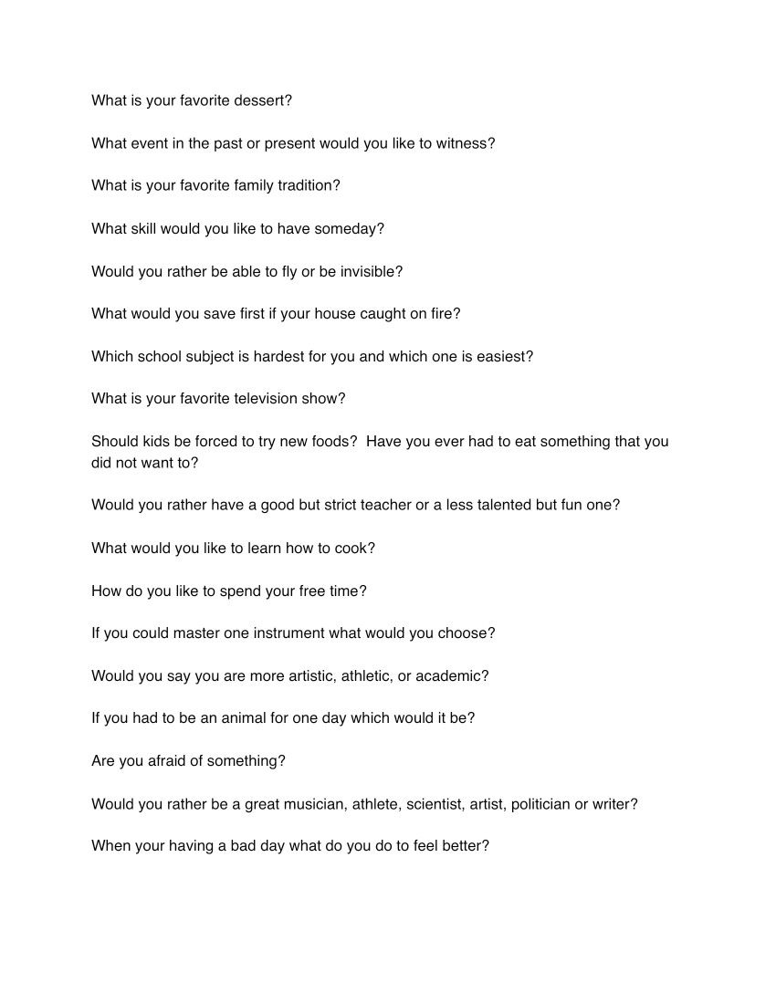 Funny Questions To Ask On A Date