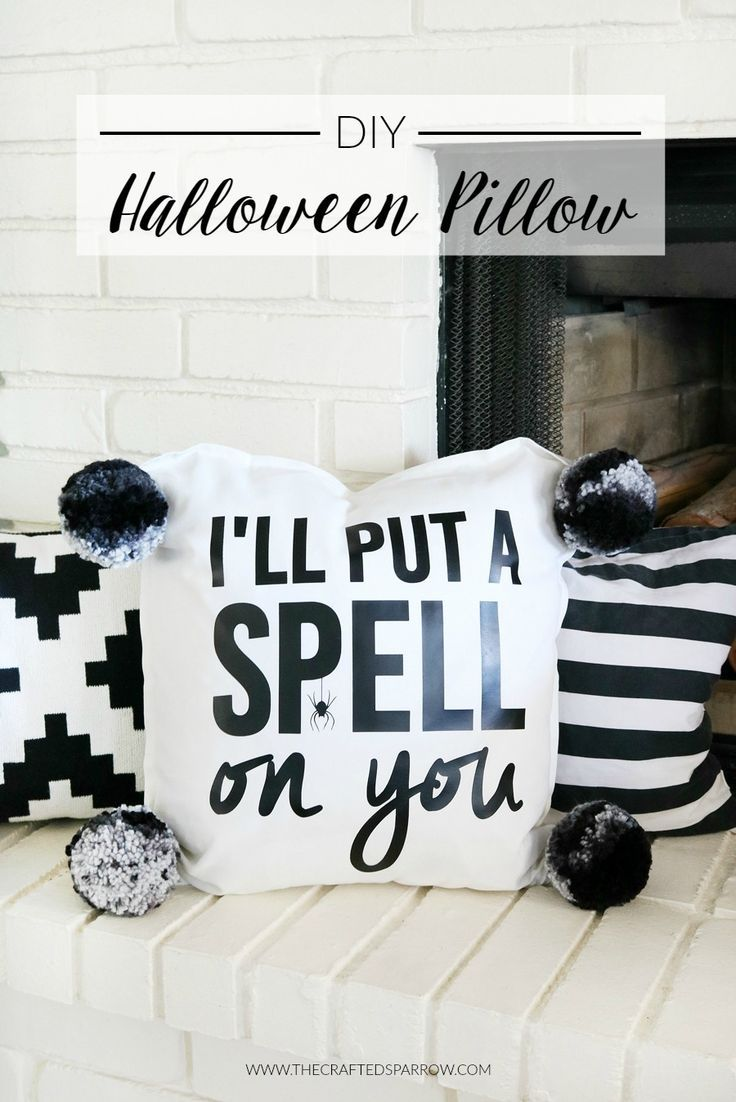 DIY Halloween Pillow Pillows, Halloween pillows and DIY Halloween - black and white halloween decorations