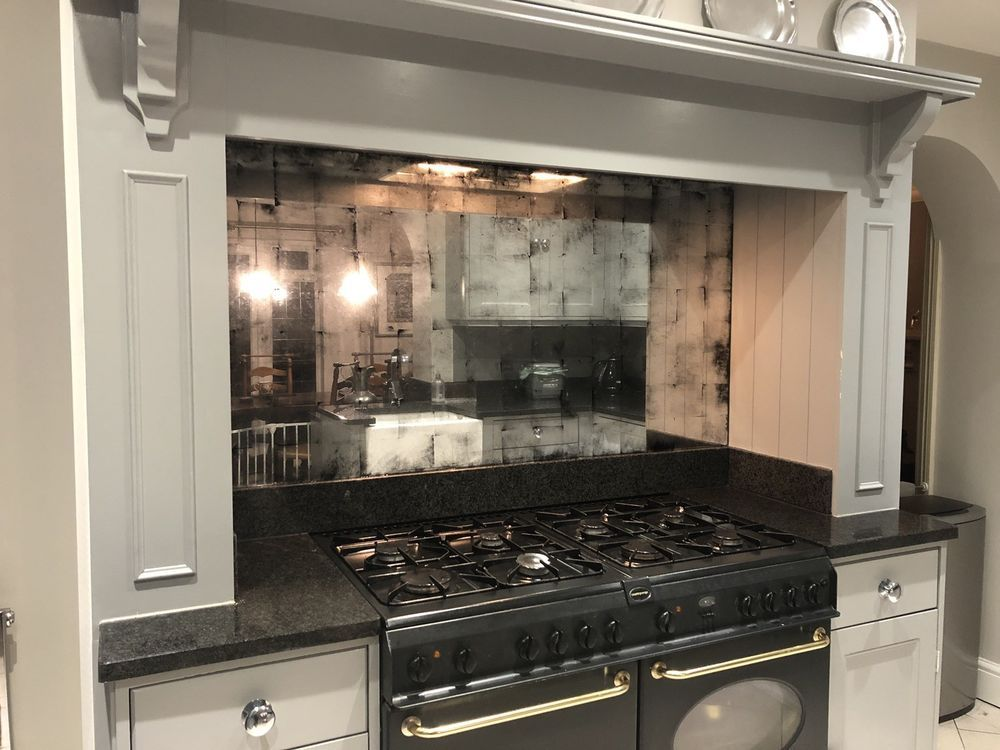 Antique Mirror, Verre Eglomise Glass Splashback. Custom ...