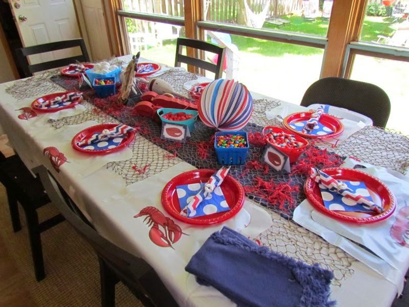Studio M Creations Design The Maine Event 2nd Birthday Party Nautical Decorations