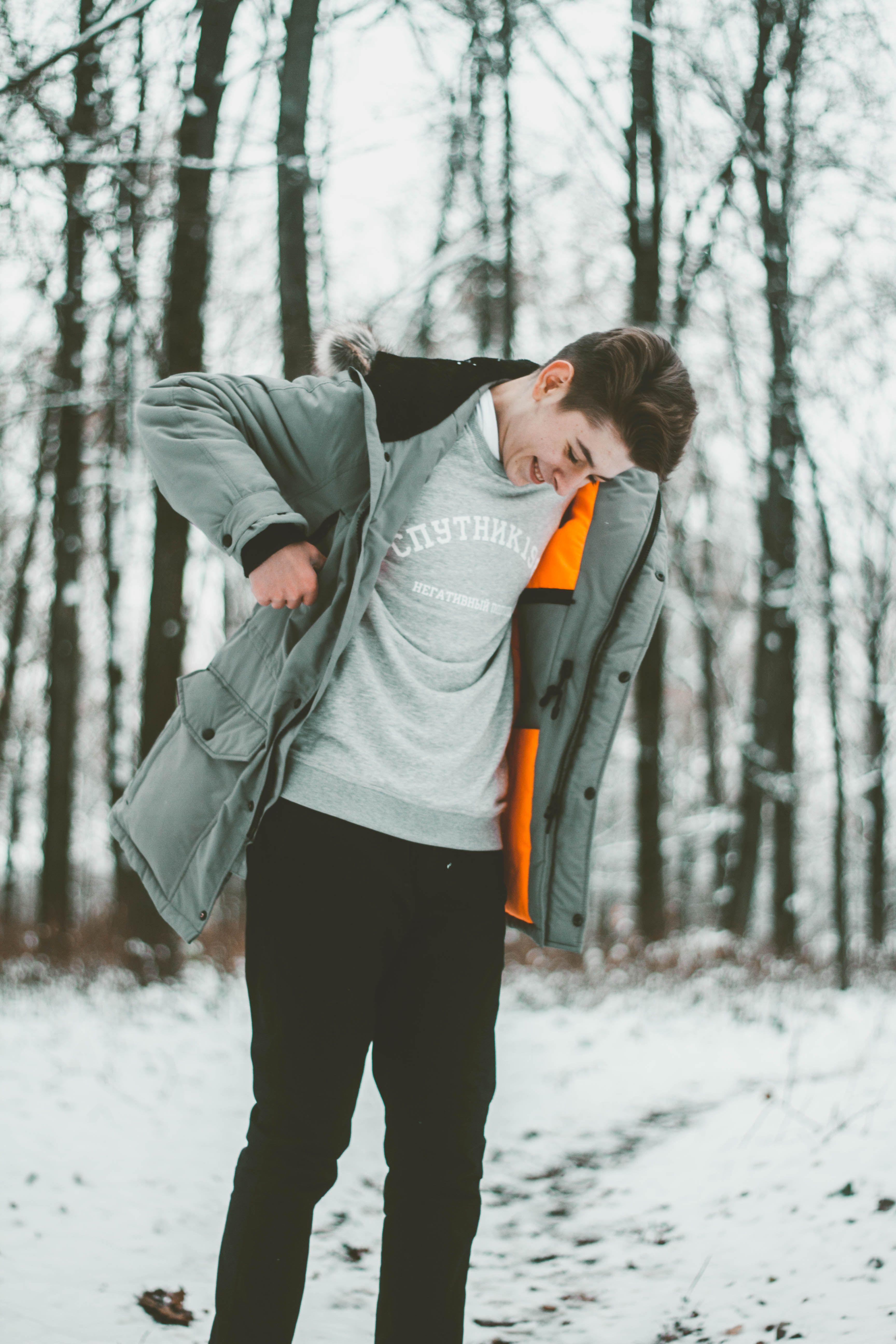 мужские позы фото в лесу зимой рад