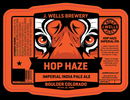 mybeerbuzz.com - Bringing Good Beers & Good People Together...: J. Wells Brewery - Hop Haze Imperial IPA