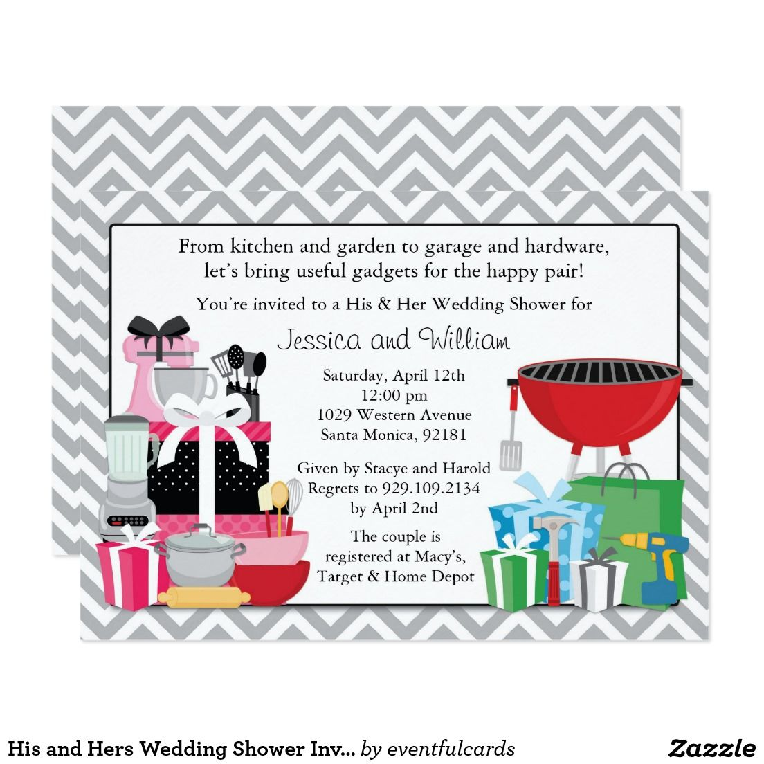 Do Your Own Wedding Invitations: His And Hers Wedding Shower Invitation