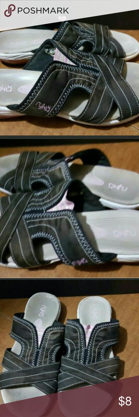 Ryka sandals shoes - Ryka Women S Size 7 8 Slides Sandals Guc Ryka Women S Size 7 8 Slides