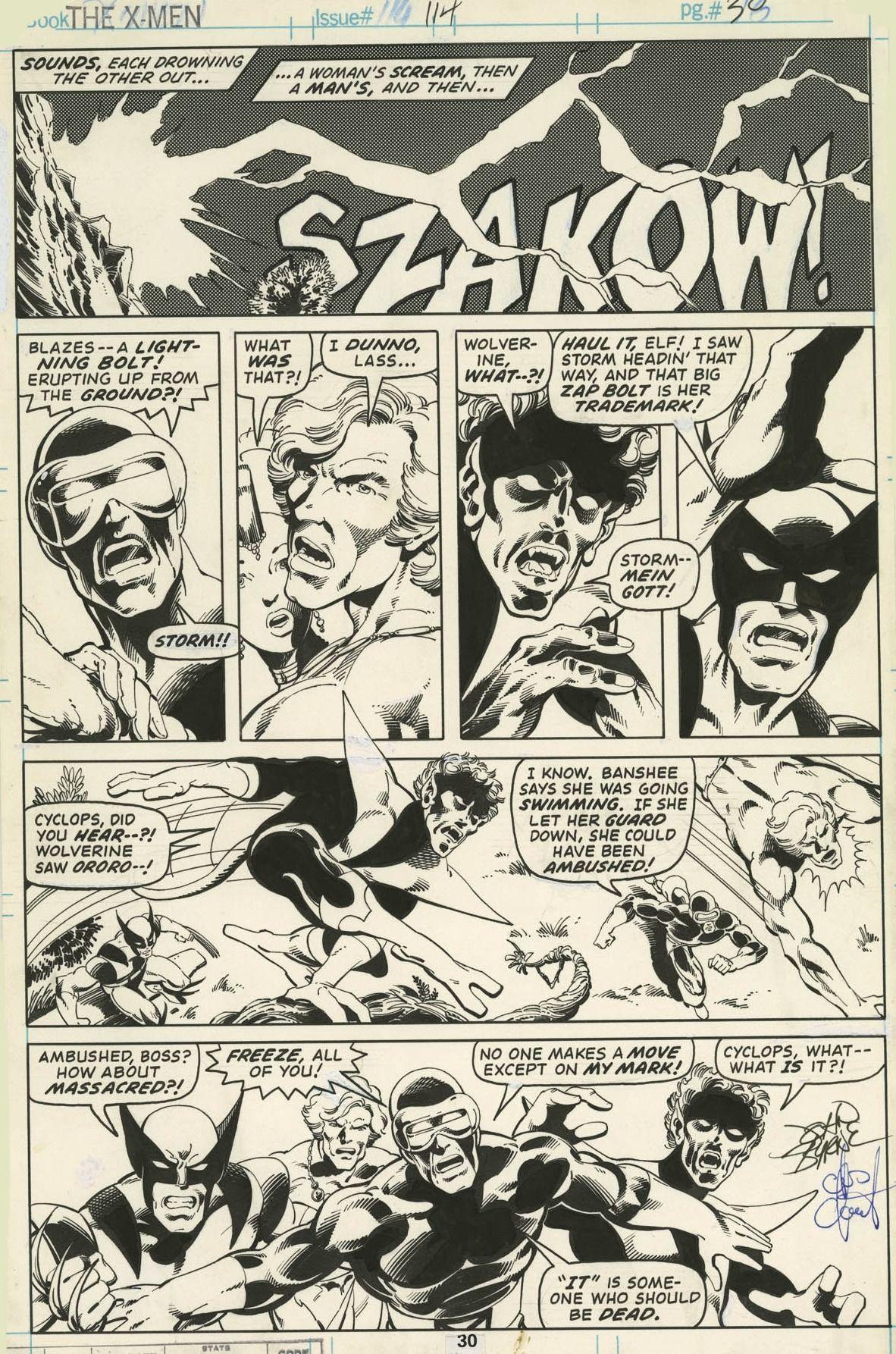 X Men 114 Page 30 Comic Books Art Comic Book Panels Comic Art
