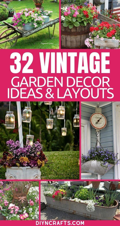 10 Charming Vintage Garden Decor Ideas You Can DIY - Gorgeous