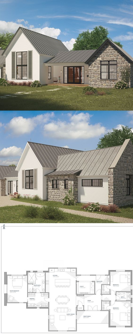 Ferrandaise farmhouse plan Sprawling 3423 square foot
