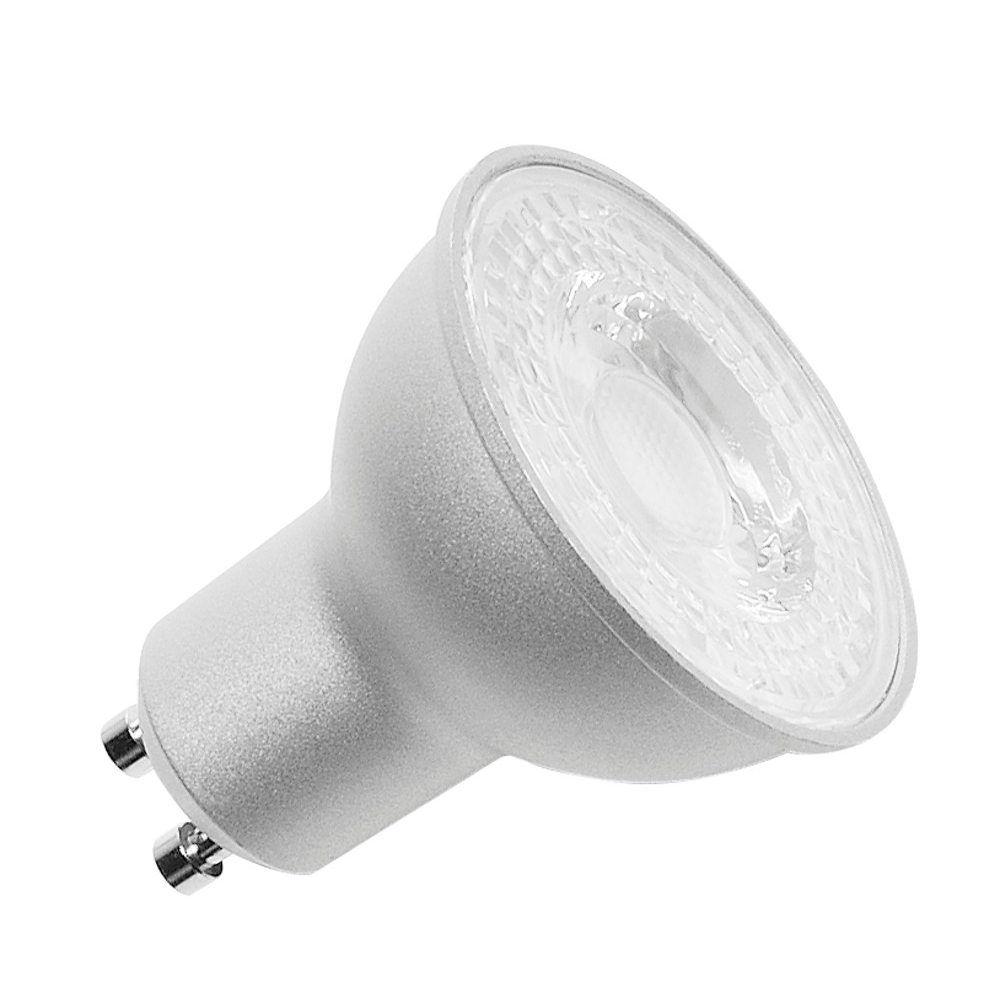 Lampentyp: Reflektor - Energieeffizienz-Klasse (EEI-Klasse): A+ - Artikelnummer: 560542 - Lichtfarbe: warmweiß - Leuchtmittel: LED - Farbe: silbergrau - Betriebsspannung: 220-240 V~ - Lichtstrom: 520 lm - Leuchtmittel ist geeignet für den Einsatz in Leuchten ohne Schutzglas: ja - Dimmbar: ja - Mittlere Lampenlebensdauer: 15000 Std. - Lampennennstrom: 0,036 A - Abgabemenge: 1 Stück - Farbtemperatur: 2700 K - Leistungsaufnahme: 7,2 W - Energieverbrauch: 8 kWh/1.000 h - Sockelbezeichnung des Leucht
