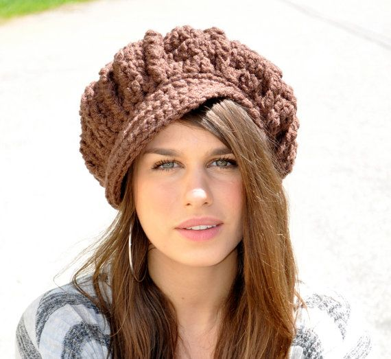 Brown Newsboy Hat - Women\'s Winter Accessories - Chocolate Brown Hat ...
