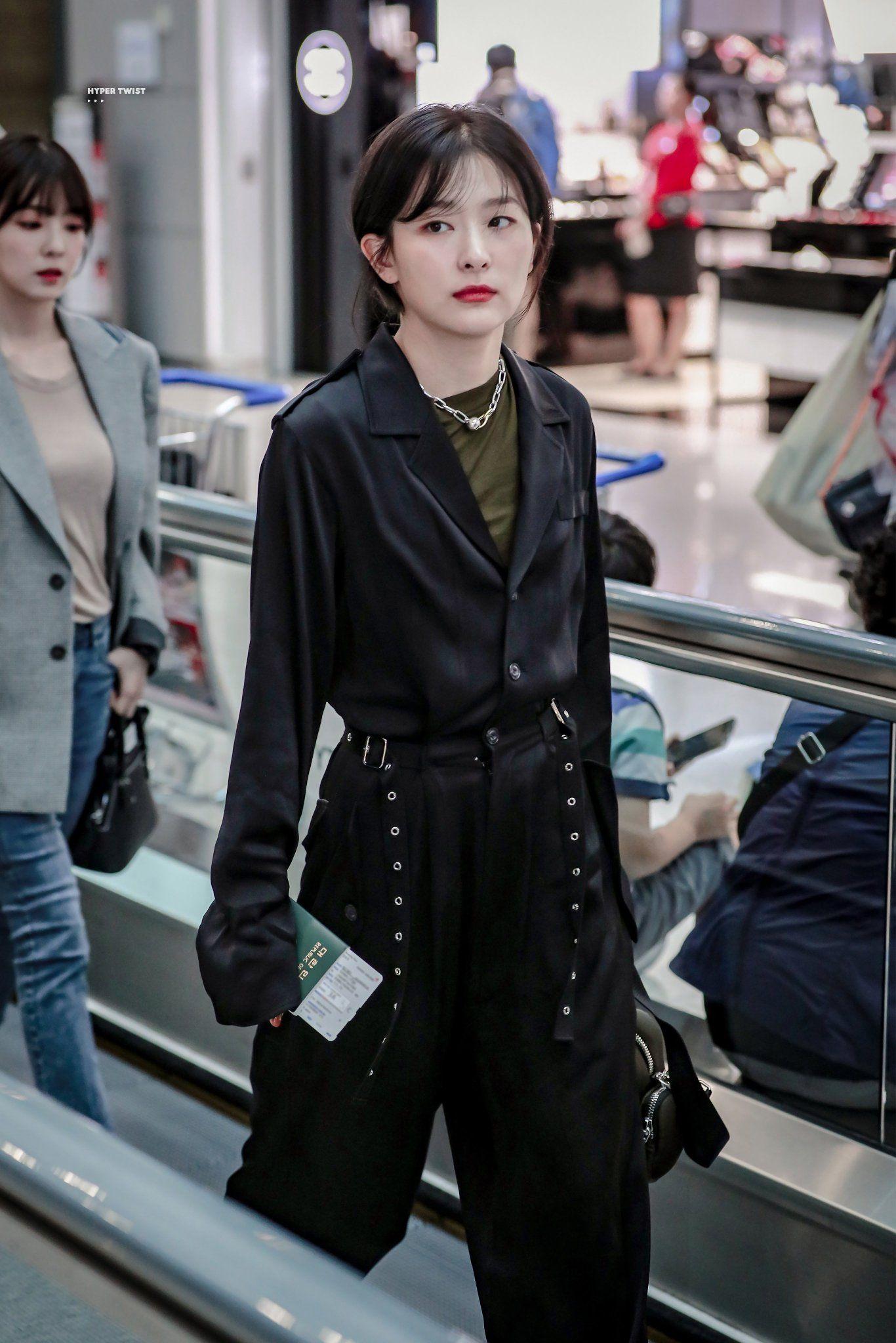 Hyper Twist On Twitter Korean Airport Fashion Velvet Fashion Red Velvet Seulgi