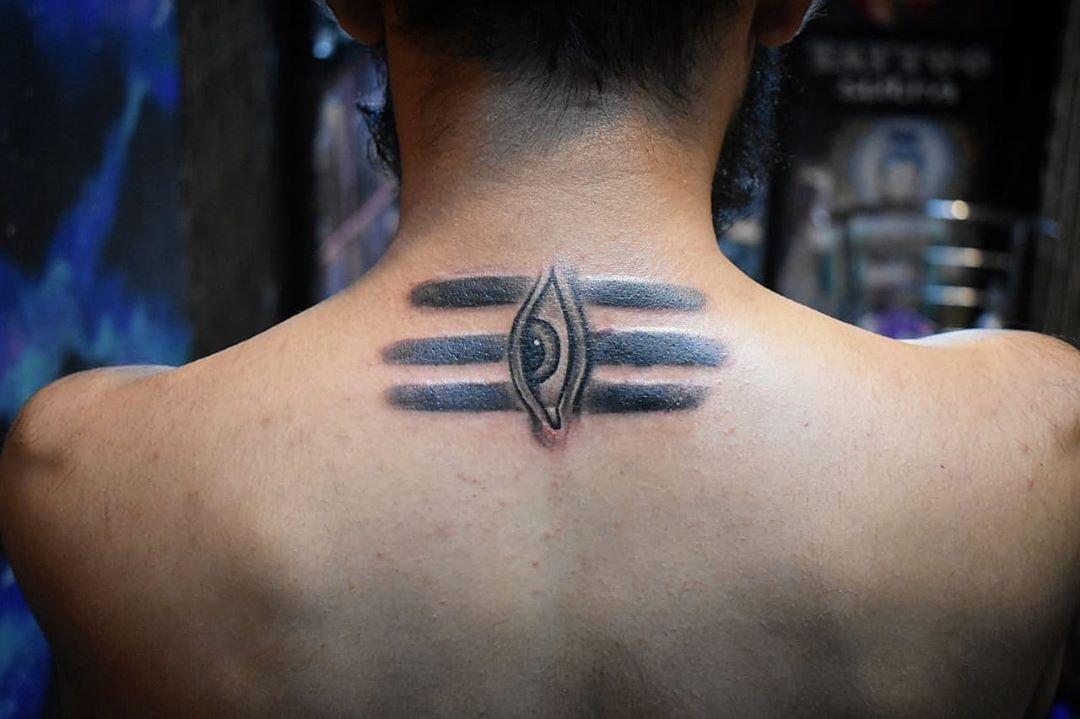 Laser Tattoo Removal Pictures Thirdeyetattoo Backnecktattoo Shivatattoo Mahadev Spiritualawakening Meditation Back Of Neck Tattoo Tattoos Eye Tattoo