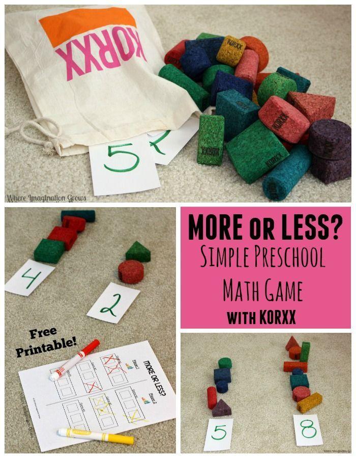 Simple Preschool Math Game with Blocks | Preschool math ...