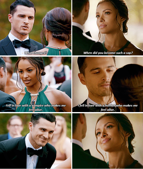 Tvd 8x09 The Simple Intimacy Of The Near Touch Bonnie And Enzo