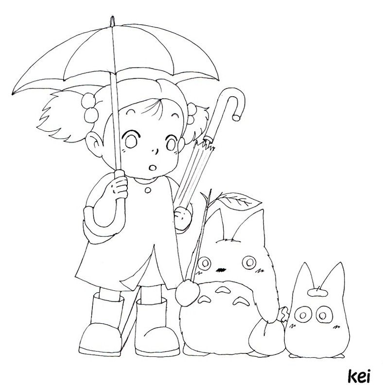 Totoro Coloring Pages | Sewing & Crafts | Pinterest | Totoro ...