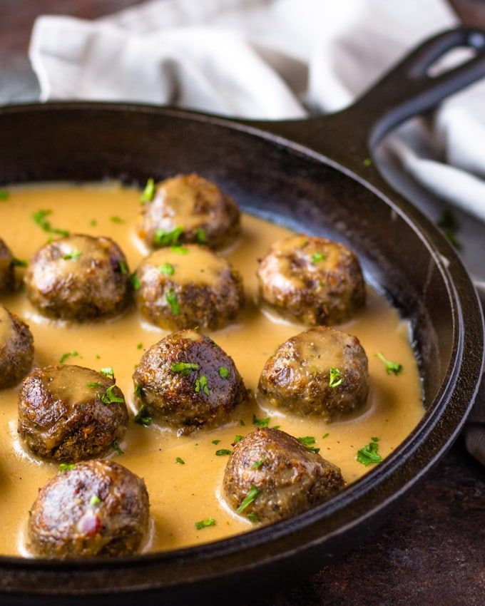 Vegan Swedish Meatballs