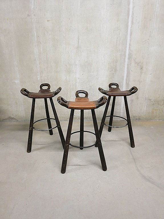Vintage Design Barkrukken Spanish Stools Furniture