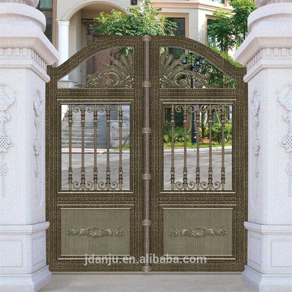 2017 Aluminium walk way gate sliding gates main entrance gate ...