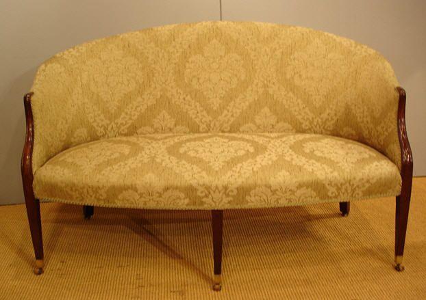 Excellent Georgian Settee Small Antique Mahogany Sofa Best Sofas Machost Co Dining Chair Design Ideas Machostcouk