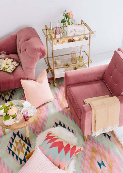 Cool Living Room Chairs. Aviva Velvet Chair in pink with rug Aspyn s Living Room Makeover Reveal  Pink couch Cozy and