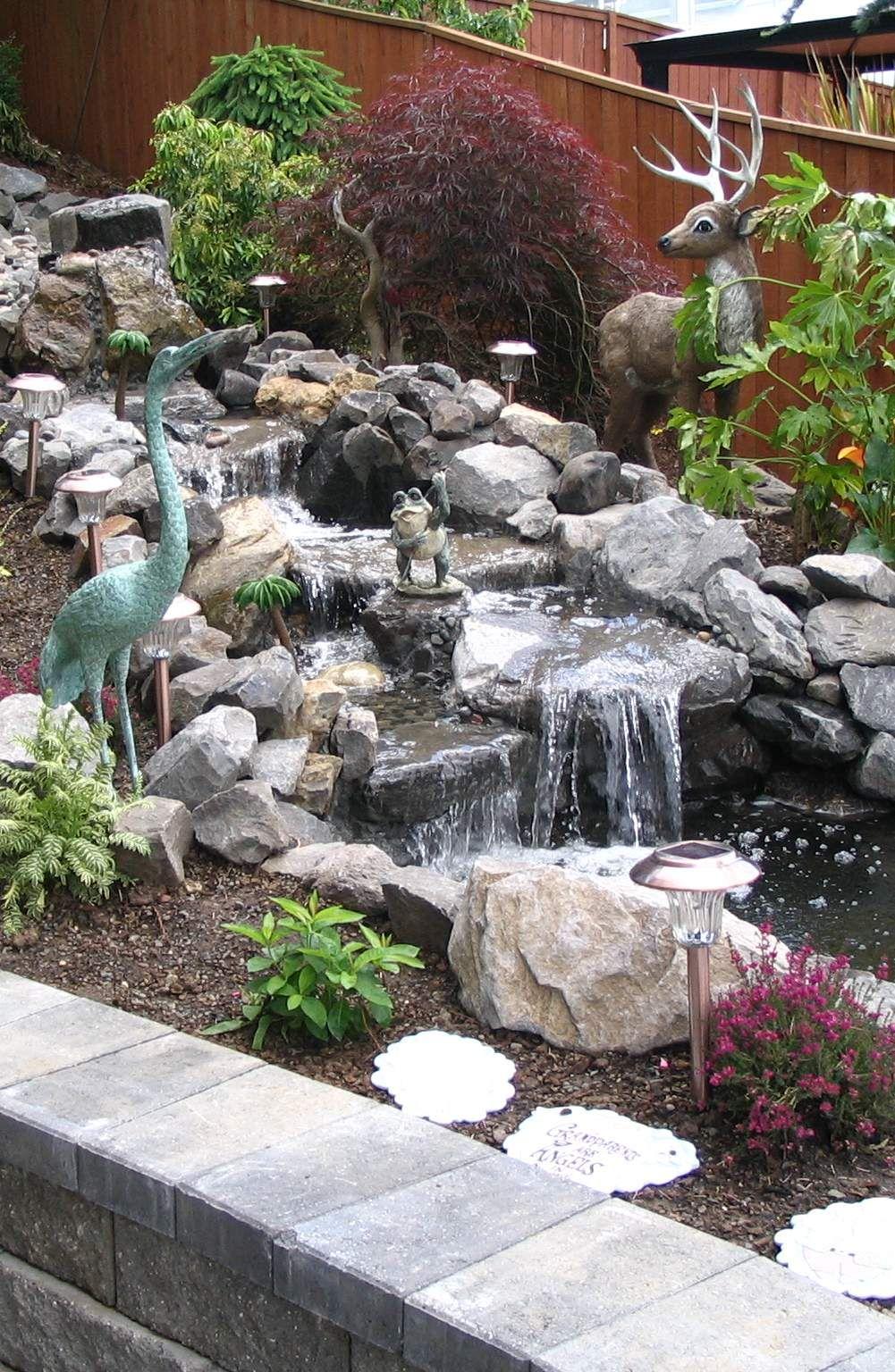 Garden water features  Pinspiration   Stylish Backyard u Garden Waterfalls  Style
