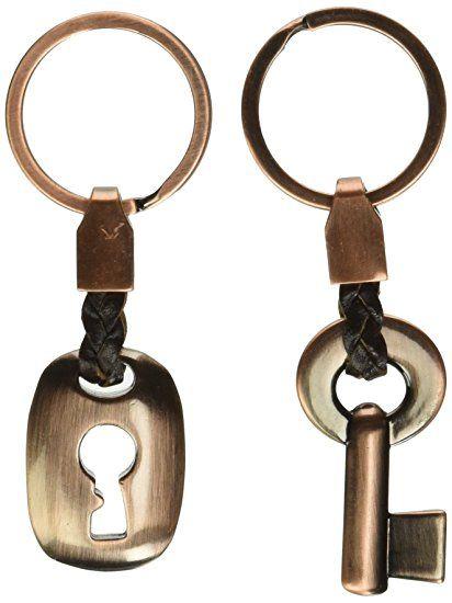 8f85e9a2c7f14 MAYCOM Creative Fashion Leather Couple Keychain Key Chain Ring Keyring Key  Fob Key   Lock 83513