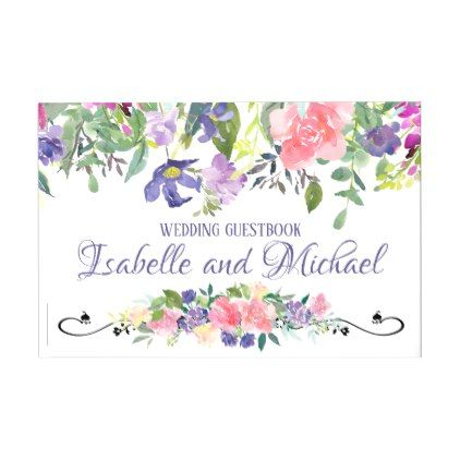 Elegant Promise of Spring Personalized Wedding Guest Book