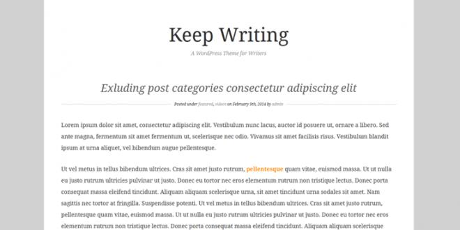 Free Best WordPress Themes For Writers | WordPress Themes ...