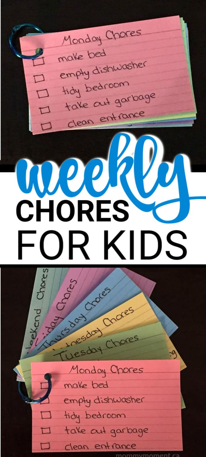 WEEKLY CHORES FOR KIDS #kids