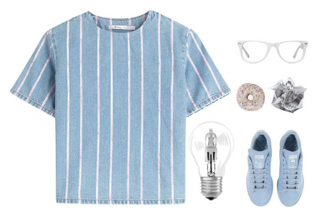 """blues clues"" by somnambulism ❤ liked on Polyvore featuring Osram, adidas, T By Alexander Wang, Muse, Blue and norasfashionsets"