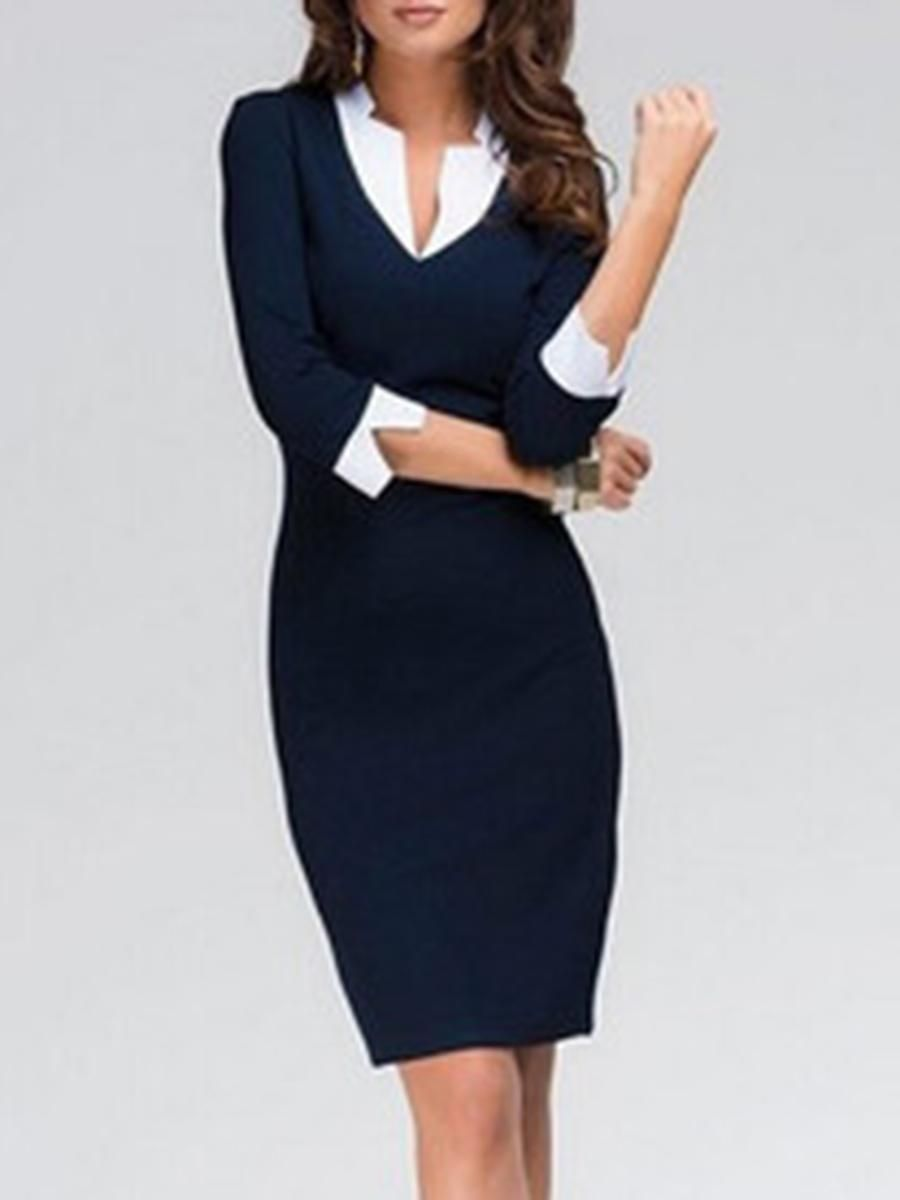 f16748f8cefb38  EnvyWe  BerryLook -  berrylook Fold-Over Collar Plain Blend Bodycon Dress  - EnvyWe.com