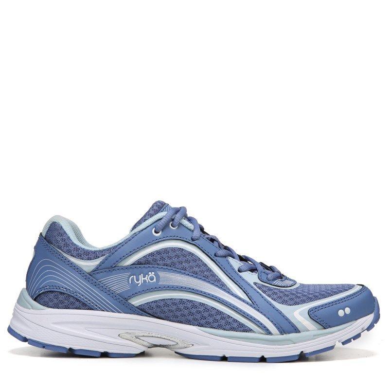Ryka Sky Walk Medium/Wide Walking Shoe White/Blue/Silver - Womens Shoes