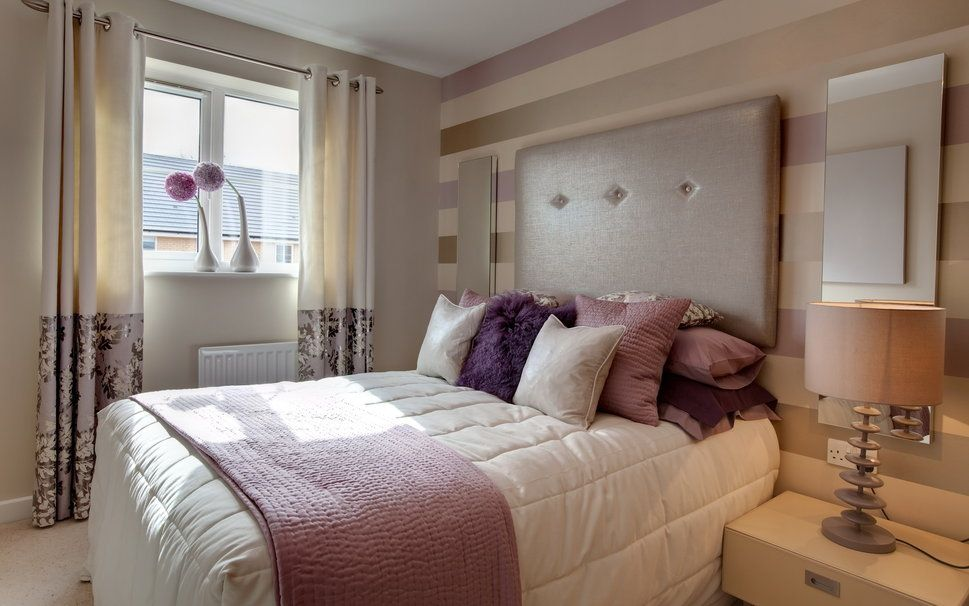 インテリア、部屋、アパート、デザイン、スタイル、ベッド ...