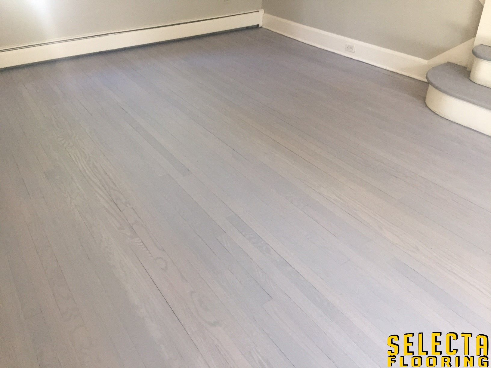 Rubio Monocoat Ash Grey With Aqua Pre Color Staining Hardwood Floors