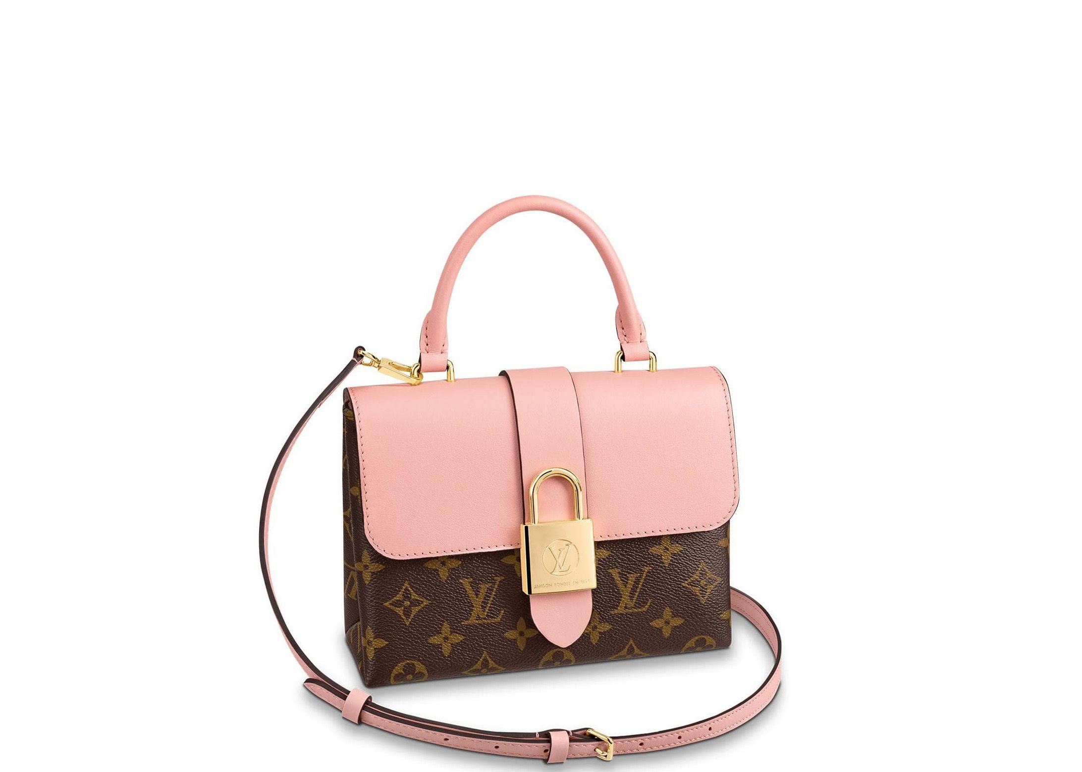 Pre Owned Louis Vuitton Locky Monogram Bb Rose Poudre Modesens Louis Vuitton Pre Owned Louis Vuitton Vuitton