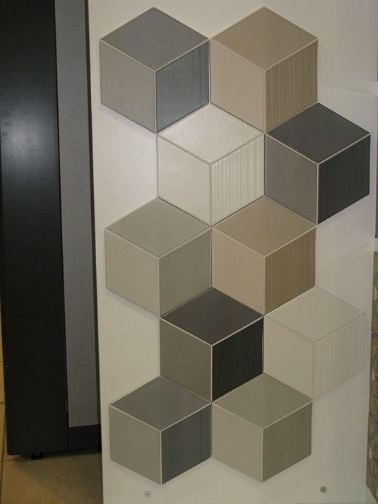imitation carreau ciment en relief effet 3d usine cubes et carrelage. Black Bedroom Furniture Sets. Home Design Ideas