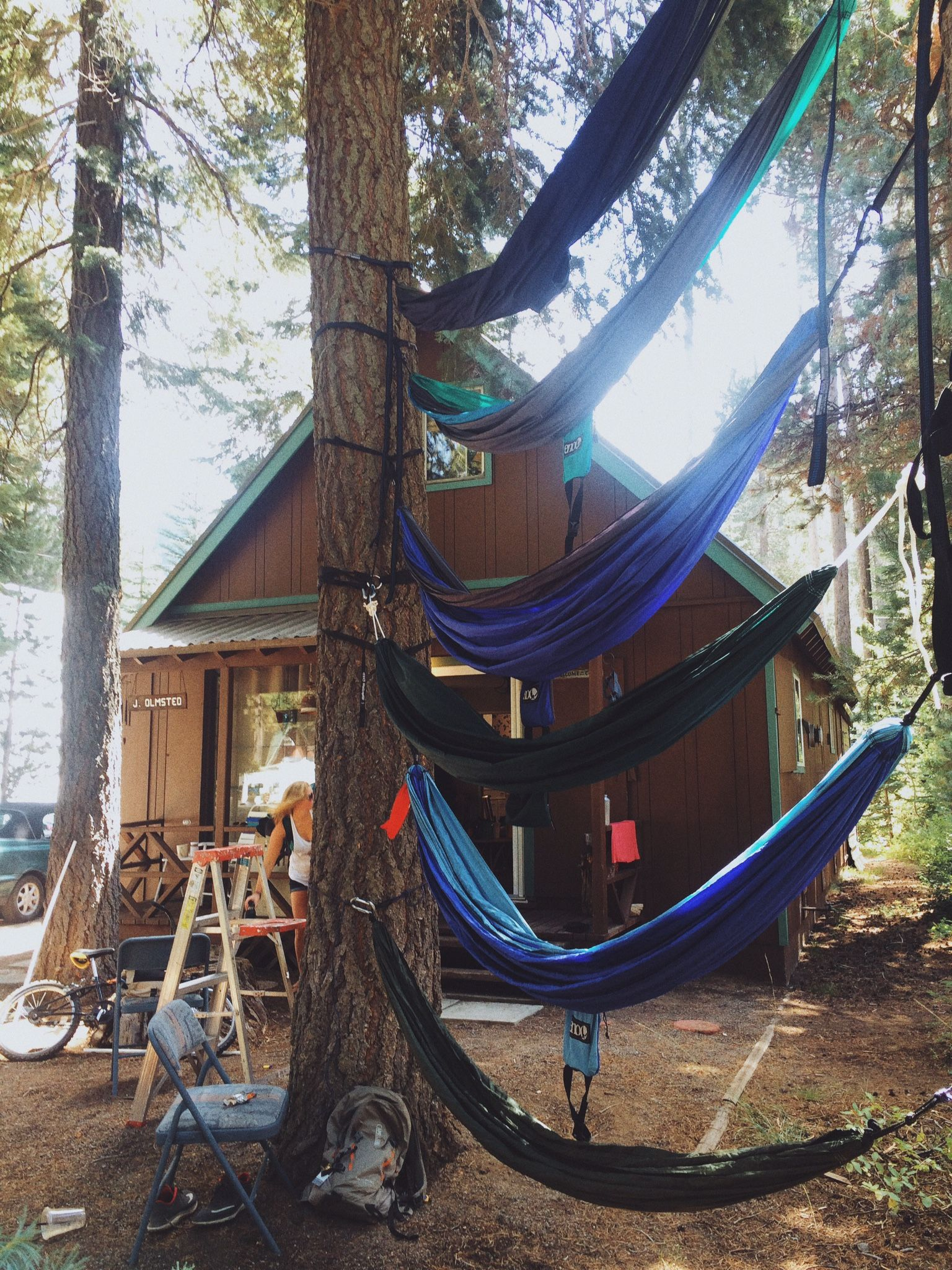 hammock cabins pinterest a stack young wild cabin pin getaways free