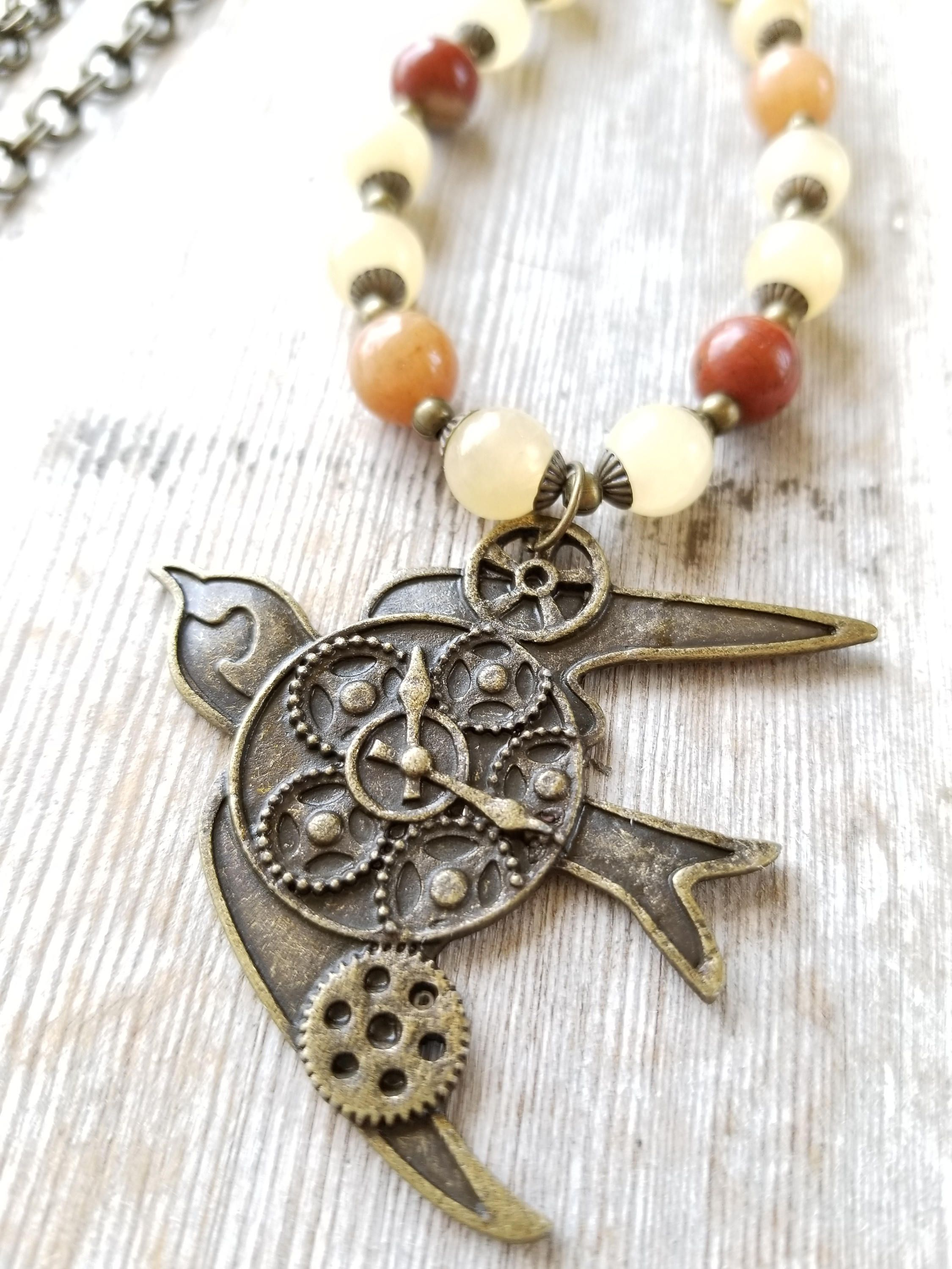 shop emi recycled soaring eve pendant jewelry bird brass bullet