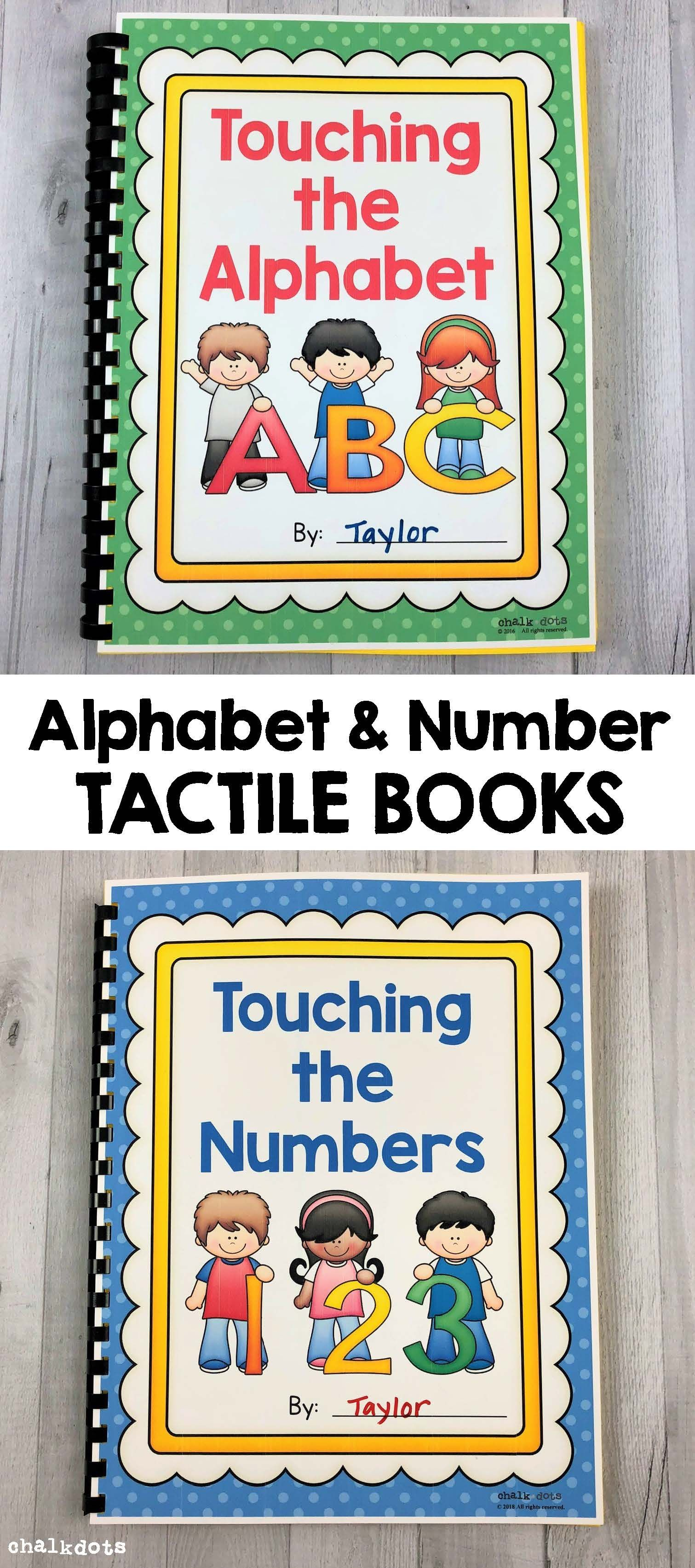 Alphabet And Number Tactile Books Bundle
